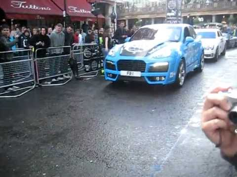 Great Gumball Rally 2011 Action Including Crazy Burnout And A Loud Spyker