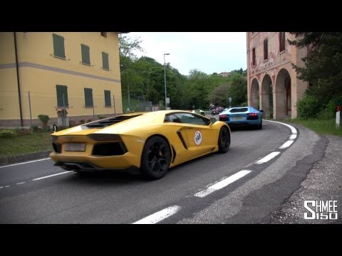 Lambos in the Hills – Flybys from SV, Aventador, LP560, Murcielago, Countach