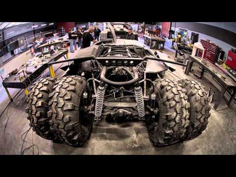Real Life BATMOBILE TUMBLER Racing in Gumball 3000 2013!