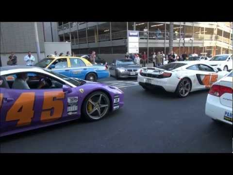 458 vs MP4-12C vs GTR…Rev Battle!!!-Gumball 3000 2012
