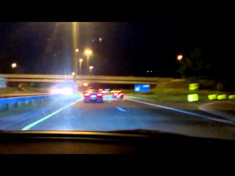 2005 gto crusing with exotics during gumball3000