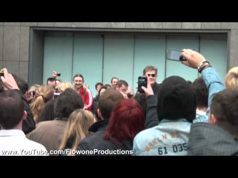 HD David Hasselhoff arriving at Gumball 2011