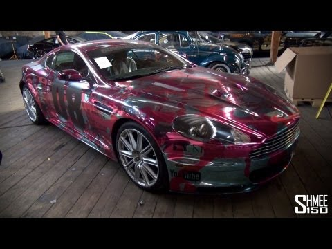 Gumball 3000 2013: Team 08 Aston Martin DBS – Chrome Pink Camo