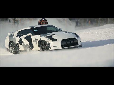NISSAN GT-R Ski slope Gumball 3000 car