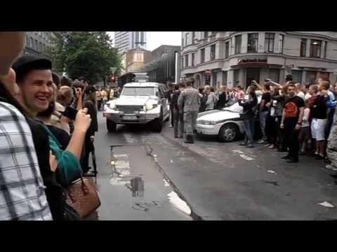 Gumball 3000 15th anniversary 2013 in Riga, Latvia checkpoint