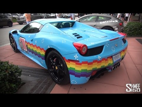 Gumball 3000 2014: Purrari 458 Spider from Deadmau5