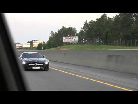 4k Mercedes SLS AMG Black Series on way to Atlanta, Georgia during Gumball 3000 Miami to Ibiza