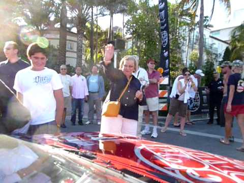 Gumball 3000 2009 Finishline in Miami Beach Florida.MOV