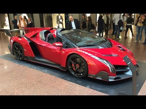 Lamborghini Veneno Roadster €3.3m Hypercar – Startup and Maneouvering
