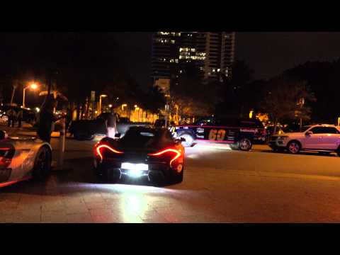 4k McLaren P1 parking outside W hotel in Miami at Gumball 3000