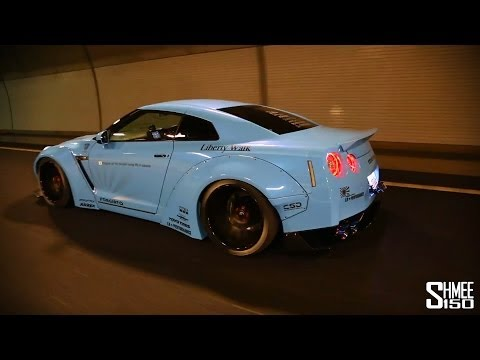 Liberty Walk Sky Blue Godzilla GT-R R35 w/ Armytrix Performance Exhaust – Tunnel Blasts