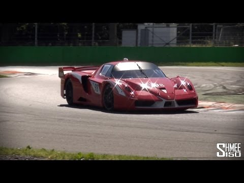 Ferrari FXX and 599XX Evo at Monza – Glowing Brakes and Awesome Sounds