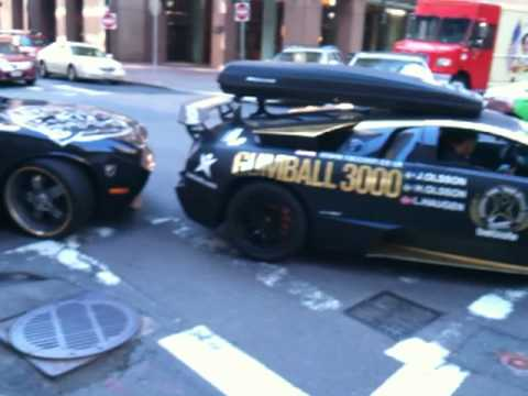 2010 Gumball 3000 – London to New York (Boston) Jon Olsson's Lamborghini – Bugatti