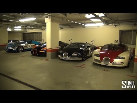 11 Bugatti Veyrons in Munich for the 2014 Grand Tour