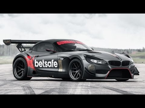 The BMW Z4 GT3 of Jens Byggmark Being Built for Gumball 3000