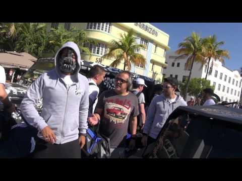 Miami just before flag drop Gumball 3000 Miami to Ibiza Part 1
