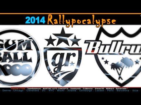 2014 Rallypocalypse: Gumball 3000, Goldrush & Bullrun details and maps