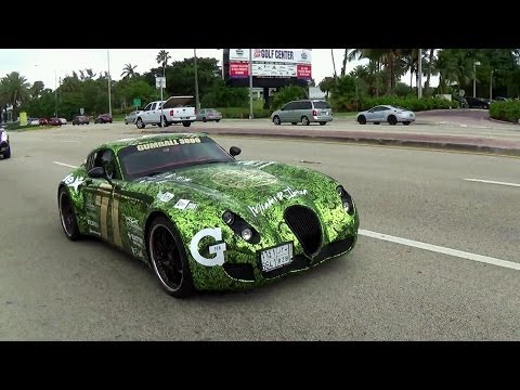 Gumball 3000 Miami 2014 Wiesmann MF5 Getting ready for Rally