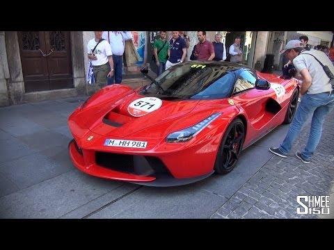 Ferrari Tribute to Mille Miglia – 2x LaFerrari, Enzo, 599 GTOs, Speciale
