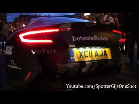 Aston Martin One-77 LOUD revs at Gumball 3000 2011!!