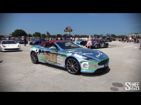 Parade Lap at Daytona International Speedway on Gumball 3000
