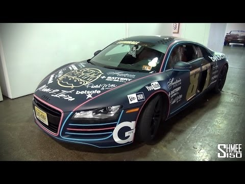 Team Newlyweds Audi R8 V8 for Gumball 3000 2014