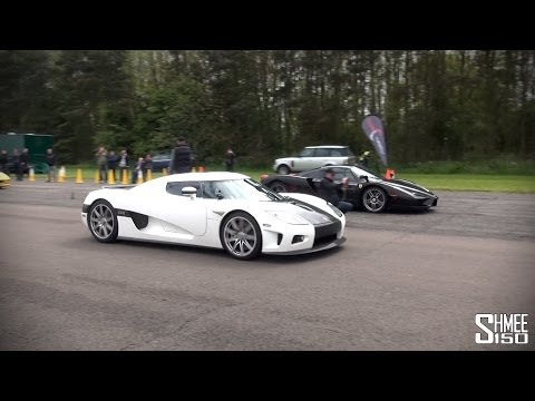 Ferrari Enzo vs Koenigsegg CCX – Drag Race at Hypermax