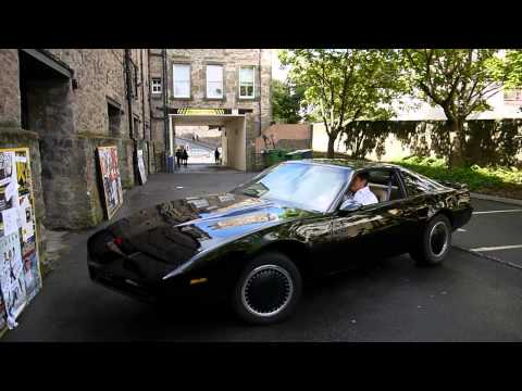 David Hasselhoff arrives in Edinburgh in KITT