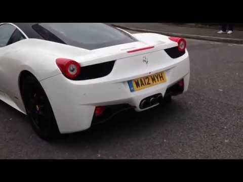 Ferrari 458 and Lamborghini Gallardo  – Gumball 3000 meet – Manchester – 23rd February 2014