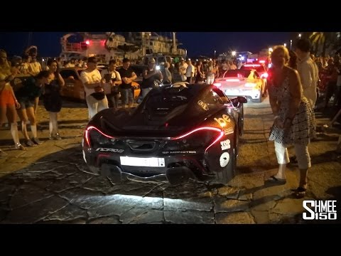 The Finish of the 2014 Gumball 3000 in Ibiza
